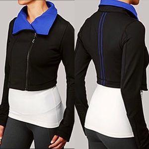 lululemon Principle Jacket Black Bold Blue Moto